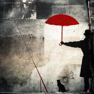 a red umbrella by stregatta75