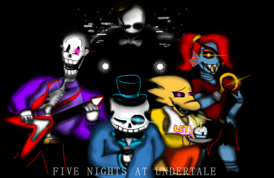 FIVE NIGHTS IN UNDERTALE by TheSkullicorn
