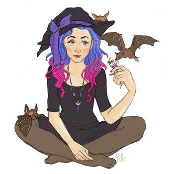 Witchsona week by hannahbird
