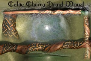 Celtic Cherry Druid Wand by MerlinOfManitou