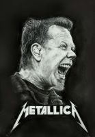 James Hetfield drawing by zakValkyrie