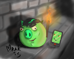 OC Hoglin and his pigphone by Mrakoboy
