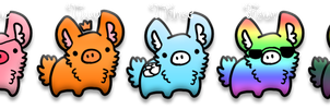 Bunny Pigs Adopts {CLOSED} - 1 POINTS EACH by Bunri