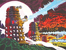 Dalek Attack! by Cotterill23