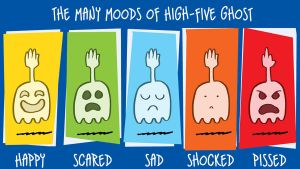 Many Moods of High-Five Ghost by joshnickerson