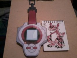 Takato's 1st D-Power Digivice PaperCraft by SuperVegeta71290