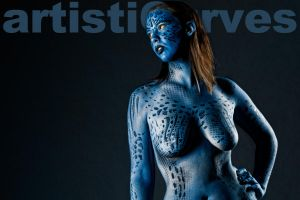 Mystique Body Paint by oldmacman