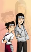 Tenten and Neji by appleshiner
