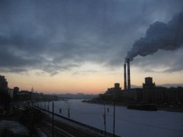 Sunset in Moscow by tabacohabano