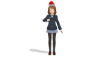 Yui Hirasawa with Santa Claus hat and Candy Cane by MarcosPower1996
