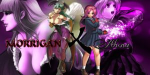 Morrigan and athena Final by thekusanagi1