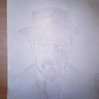 Heisenberg Dot Drawing by bloatedwhalecorpse