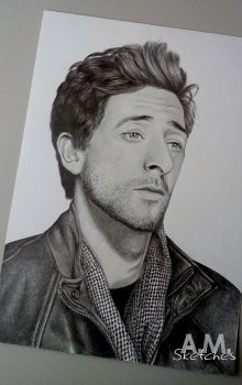 Adrien Brody by AMSketches