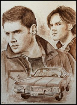 Dean and Sam by SallyGipsyPunk