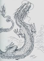 Chinese Dragon sketch by DragonSpark