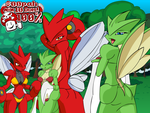 Scizor and Scyther Stance BG by Joeboxes