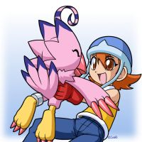 Sora and Biyomon 2 by rongs1234