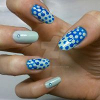 winter blue dots by siljejo96