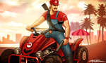 GRAND THEFT MARIO  KART by amirulhafiz