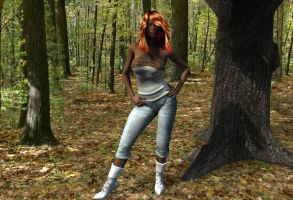 Vickie in the Woods by Vueiy-Visarelli