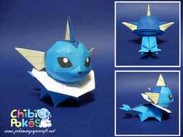 Chibi Vaporeon Papercraft by Skeleman