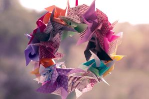 Origami Wreath by kiddophoto