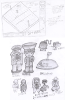 Stratego Sketches by JTtheLlama