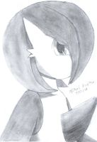 Gardevoir- Black and white by michaleon