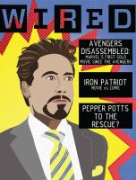 Robert Downey Jr. Magazine Cover by jdshepherd