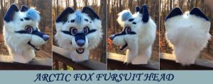 Arctic Fox Fursuit Head by GoldenCat22