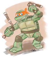 TMNT Mikey. by scootah91