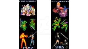 Snes Banner Vertical X by TaintedVampire
