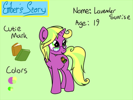 Ember's Story - Lavender Sunrise Character Sheet by Emberfall0507