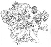 Fantastic Four Pencil by TerryDodson