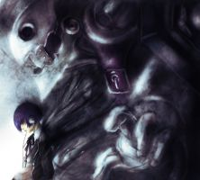 P3: Arisato x Thanatos by zamboze