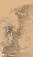 Succubus - Charcoal by theopticnerve