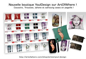 New shop YoulDesign at Artofwhere ! by YoulDesign