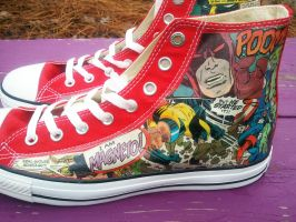 Marvel Red Converses 003 by MacklinsMurals