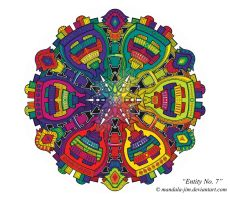 Entity No.7 - Digitally Coloured and Enhanced by Mandala-Jim