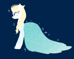 Frozen elsa pony by Kriversky