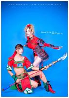 Seong Mina and Natsu: Soul Calibur warriors by ferpsf
