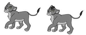 Free Lion King Cub Lineart by WolfAvenge