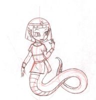 Lexi The Little Lamia by HMontes