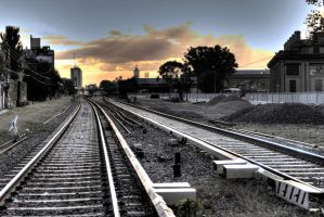Towards the end of the railway I by AlejandroCastillo
