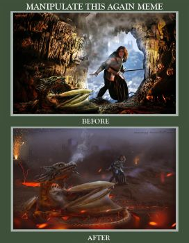 Fire and Armor Before After by annewipf