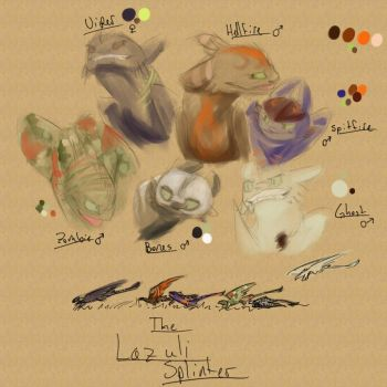 .:NEW CHARACTERS:. The Lazuli Splinter by HTTYDsketch503