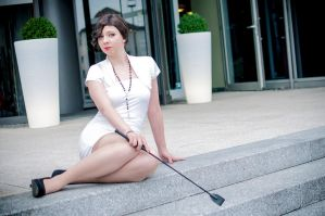 Just sitting here - Irene Adler style by HelloDarkside