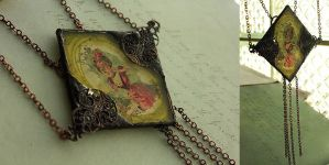 Absinthe Assemblage Necklace by asunder