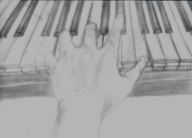 my hand on the keyboard by dopehatx