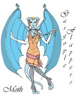 Gargoyle Flappers: Moth by Valky